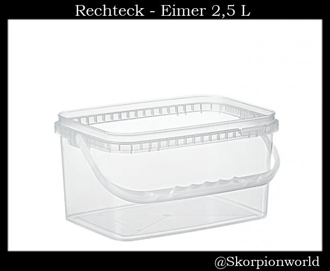 Rechteck-Eimer 2,5 L / Transparent