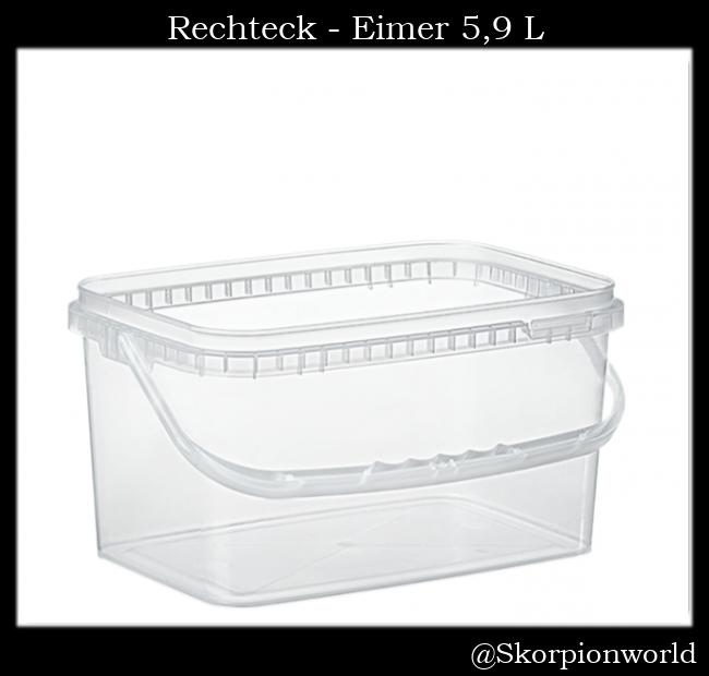 Rechteck-Eimer 5,9 L / Transparent