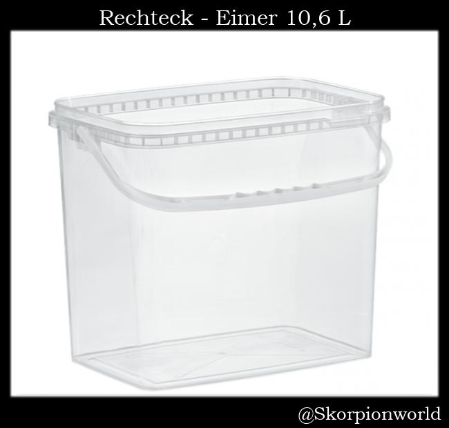 Rechteck-Eimer 10,6 L / Transparent
