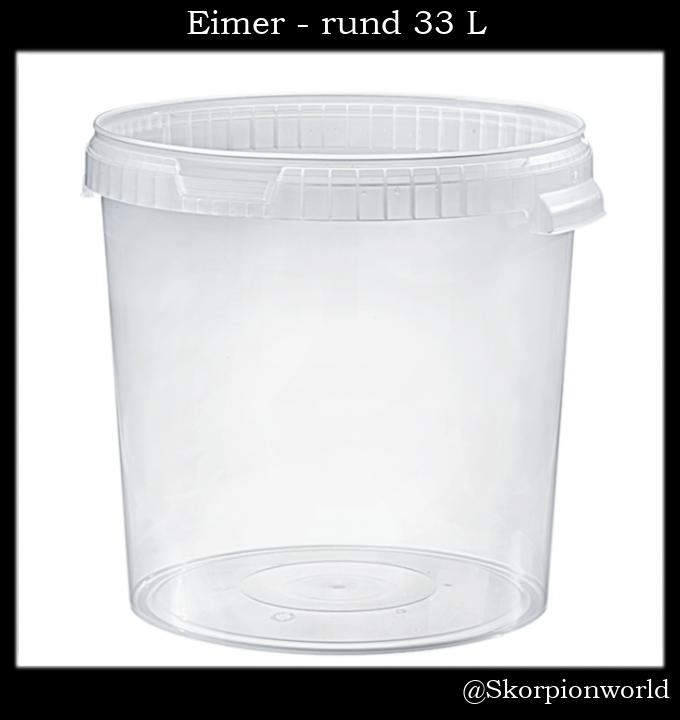 Eimer - rund 33,0 L / Transparent